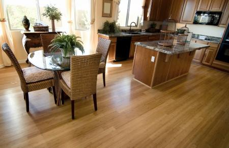 Hardwood flooring in kitchen